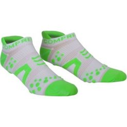Skarpetki męskie: Compressport Skarpety unisex Racing Socks V2 Run RSLV2-00GR biało-zielone r. 40-42
