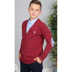 Bordowy Sweter Zapinany  NDZ8014. Czerwone swetry chłopięce Fasardi. Za 69,00 zł.