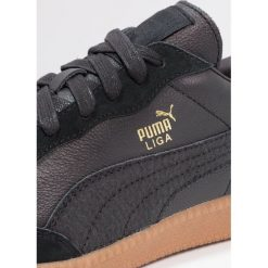 Puma LIGA LEATHER Tenisówki i Trampki black. Czarne tenisówki damskie marki Puma. W wyprzedaży za 237,30 zł.