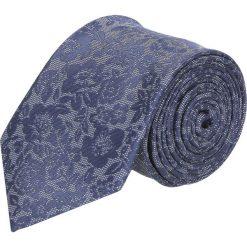 Krawat platinum granatowy classic 274. Niebieskie krawaty męskie Recman. Za 49,00 zł.