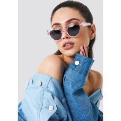 Okulary przeciwsłoneczne damskie: NA-KD Classic Okulary przeciwsłoneczne kocie oczy – Pink