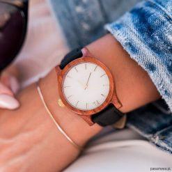Damski zegarek z drewna Classic 38 mm n026. Różowe zegarki damskie Pakamera. Za 399,00 zł.