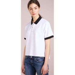 Rag & bone PIKE  Koszulka polo white. Białe bluzki asymetryczne rag & bone, s, z bawełny, polo. W wyprzedaży za 369,85 zł.
