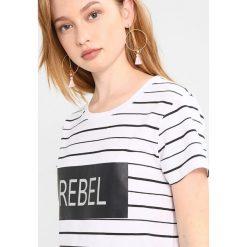 T-shirty damskie: b.young PUNDA STRIPE Tshirt z nadrukiem optical white
