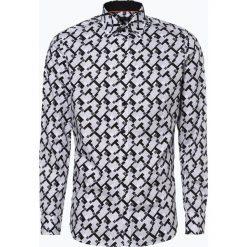 Olymp Level Five - Koszula męska łatwa w prasowaniu, czarny. Niebieskie koszule męskie na spinki marki OLYMP Level Five, m, paisley, ze stójką. Za 179,95 zł.