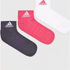 Adidas Performance - Skarpetki (3-pack). Szare skarpetki damskie marki adidas Performance, z bawełny. Za 39,90 zł.