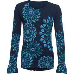Sweter wzorzysty, długi rękaw bonprix ciemnoniebieski wzorzysty. Niebieskie swetry klasyczne damskie marki bonprix. Za 129,99 zł.