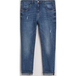 Jeansy slim fit z bawełną organiczną - Niebieski. Niebieskie jeansy męskie relaxed fit marki QUECHUA, m, z elastanu. Za 129,99 zł.