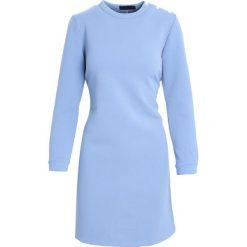 Niebieska Sukienka January Rain. Niebieskie sukienki mini marki Born2be, l, oversize. Za 69,99 zł.
