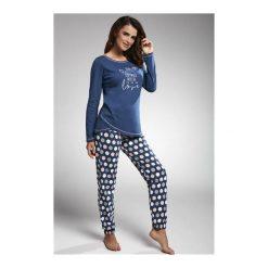 Piżama With Love 161/162. Niebieskie piżamy damskie Cornette. Za 153,90 zł.