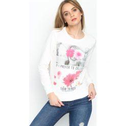 Bluzy damskie: Biała Bluza Prefer