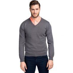 Sweter FABRIZIO SWPR000136. Niebieskie swetry klasyczne męskie marki Giacomo Conti, m, z tkaniny, klasyczne. Za 149,00 zł.