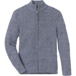 Sweter rozpinany z bawełny z recyclingu Regular Fit bonprix ciemnoniebiesko-biały melanż. Niebieskie kardigany męskie marki bonprix, l, z aplikacjami, z bawełny. Za 109,99 zł.