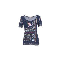 T-shirty z krótkim rękawem Desigual  RICOLU. Niebieskie t-shirty damskie Desigual, m. Za 168,35 zł.