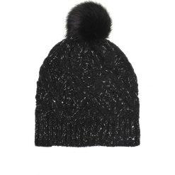 CZAPKA Z POMPONEM. Czarne czapki zimowe damskie Top Secret, na jesień. Za 49,99 zł.