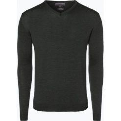 Swetry klasyczne męskie: Finshley & Harding – Sweter męski, zielony