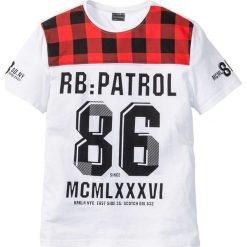 T-shirty męskie z nadrukiem: T-shirt Regular Fit bonprix biały z nadrukiem