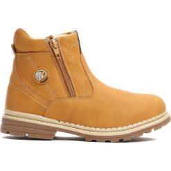 Camelowe Traperki Big-City. Brązowe buty zimowe chłopięce Born2be, z materiału, z okrągłym noskiem, na zamek. Za 79,99 zł.