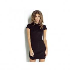 Sukienka Latika. Czarne sukienki dzianinowe marki Wow fashion, na co dzień, ze stójką, dopasowane. Za 199,00 zł.