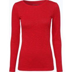 Marc O'Polo - Damska koszulka z długim rękawem, czerwony. Czerwone t-shirty damskie Marc O'Polo, l, polo. Za 179,95 zł.