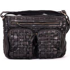 Torebki klasyczne damskie: Skórzana torebka w kolorze czarnym – 31 x 22 x 7 cm
