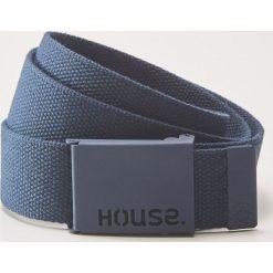 Pasek parciany - Niebieski. Niebieskie paski męskie marki House, w paski. Za 25,99 zł.