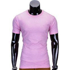 T-SHIRT MĘSKI BEZ NADRUKU S620 - RÓŻOWY. Fioletowe t-shirty męskie z nadrukiem marki KIPSTA, m, z elastanu, z długim rękawem, na fitness i siłownię. Za 12,99 zł.