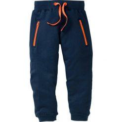 Spodnie chłopięce: Spodnie dresowe bonprix ciemnoniebieski