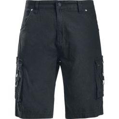 Gothicana by EMP Army Vintage Shorts Krótkie spodenki czarny. Czarne spodenki jeansowe męskie marki Gothicana by EMP, vintage. Za 149,90 zł.