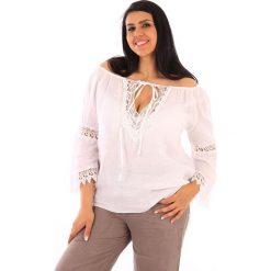 """Tuniki damskie: Lniana tunika """"Sevilla"""" w kolorze białym"""