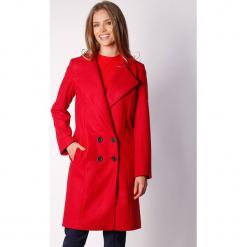 Płaszcz w kolorze czerwonym. Zielone płaszcze damskie wełniane marki Last Past Now, xs, w paski. W wyprzedaży za 319,95 zł.