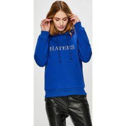Trendyol - Bluza. Niebieskie bluzy damskie Trendyol, l, z aplikacjami, z bawełny, z kapturem. Za 79,90 zł.