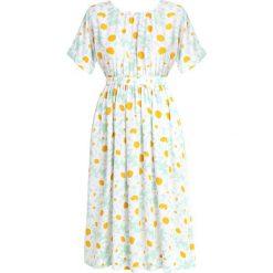 Madewell PRINT DRESS WITH CUTOUT TIE BACK Długa sukienka sea haze. Niebieskie długie sukienki Madewell, xxl, z materiału, z długim rękawem, oversize. Za 669,00 zł.