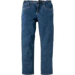 Dżinsy z elastycznymi wstawkami w talii CLASSIC FIT STRAIGHT bonprix niebieski. Niebieskie jeansy męskie relaxed fit marki House. Za 74,99 zł.
