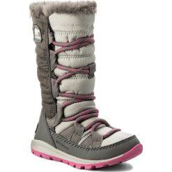 Kozaki dziewczęce: Śniegowce SOREL – Children's Whitney Lace NC1895 Pink Ice/Quarry