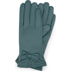 Rękawiczki damskie 39-6-550-BG. Zielone rękawiczki damskie Wittchen, z polaru. Za 99,00 zł.