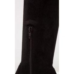 Dune London SEREIN Kozaki na obcasie black. Czarne buty zimowe damskie Dune London, z materiału, na obcasie. W wyprzedaży za 479,40 zł.