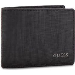 Duży Portfel Męski GUESS - SM2541 LEA20 BLA. Czarne portfele męskie marki Guess, ze skóry ekologicznej. Za 279,00 zł.
