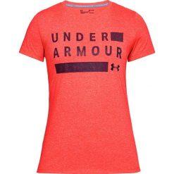 Koszulka w kolorze pomarańczowym. T-shirty damskie marki Under Armour, xs, z nadrukiem, z materiału, z okrągłym kołnierzem. W wyprzedaży za 69,95 zł.