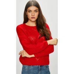 Only - Sweter Havana. Czerwone swetry klasyczne damskie ONLY, l, z dzianiny, z okrągłym kołnierzem. W wyprzedaży za 99,90 zł.
