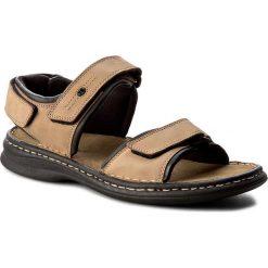Sandały męskie skórzane: Sandały JOSEF SEIBEL - Rafe 10104 11 121 Stone/Schwarz