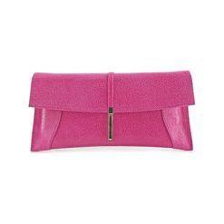 Puzderka: Skórzana kopertówka w kolorze różowym – (S)30 x (W)16 x (G)5 cm
