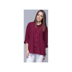 Luźna koszula oversize bordo H010. Białe koszule wiązane damskie Harmony. Za 135,00 zł.