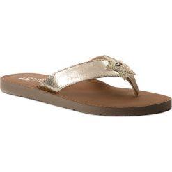 Chodaki damskie: Japonki TOMMY JEANS - Glitter Beach Sandal EN0EN00065 Light Gold 708