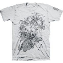 Linkin Park Coral Faces T-Shirt szary. Szare t-shirty męskie z nadrukiem marki Linkin Park, s, z okrągłym kołnierzem. Za 32,90 zł.