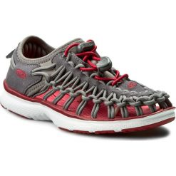 Sandały KEEN - Uneek 02 1015485 Magnet/Tango Red. Szare sandały chłopięce Keen, z materiału. W wyprzedaży za 169,00 zł.