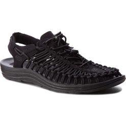Sandały KEEN - Uneek 1014097 Black/Black. Czarne sandały męskie Keen, z materiału. W wyprzedaży za 279,00 zł.
