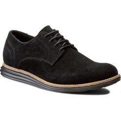 Półbuty CALVIN KLEIN JEANS - Sean Suede SE8471  Black. Czarne półbuty skórzane męskie marki Calvin Klein Jeans. W wyprzedaży za 359,00 zł.