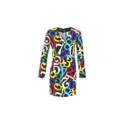 Sukienki krótkie Love Moschino  PICHANI. Szare sukienki mini marki Love Moschino, z krótkim rękawem. Za 1207,20 zł.