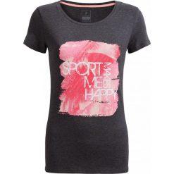 T-shirt damski  TSD615 - ciemny szary melanż - Outhorn. Szare t-shirty damskie Outhorn, melanż, z materiału. W wyprzedaży za 24,99 zł.